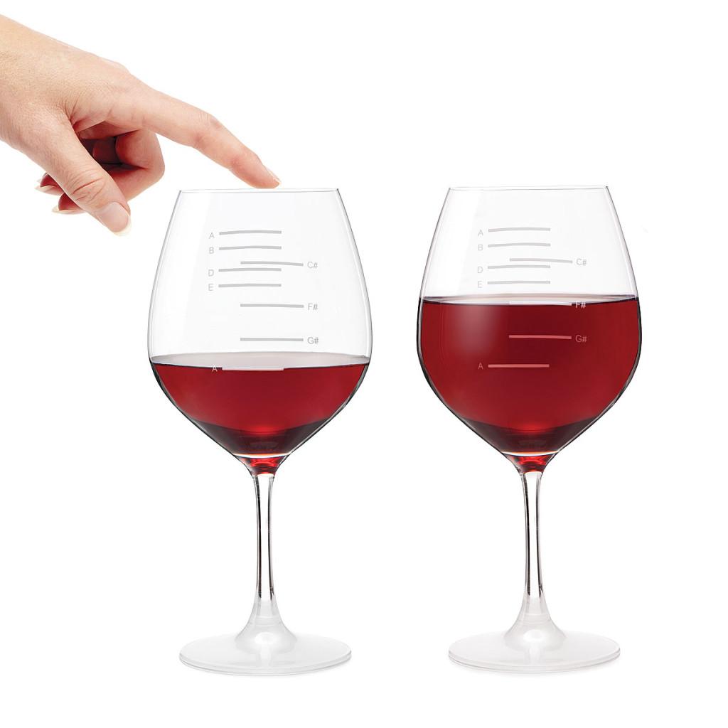 Uncommon Goods Musical Wine Glasses