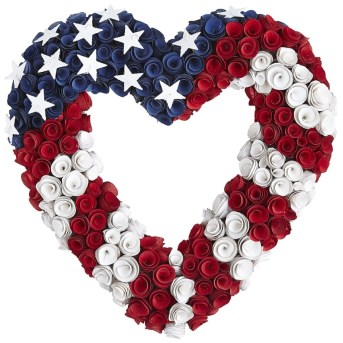 Just like the American spirit, the wood curls that make up this wreath will never fade