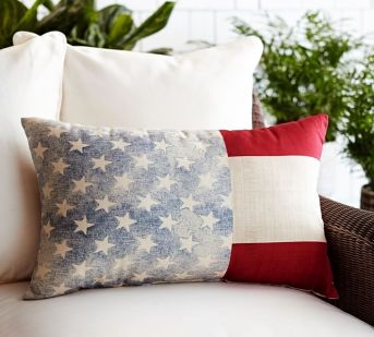 Toss these star spangled pillows all over your patio