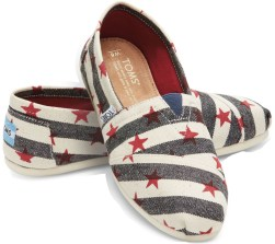 Show your spirit with these Stars & Stripes from TOMS
