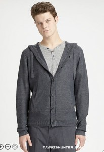 611 Saks Fifth Avenue Linen Button Hoodie $248