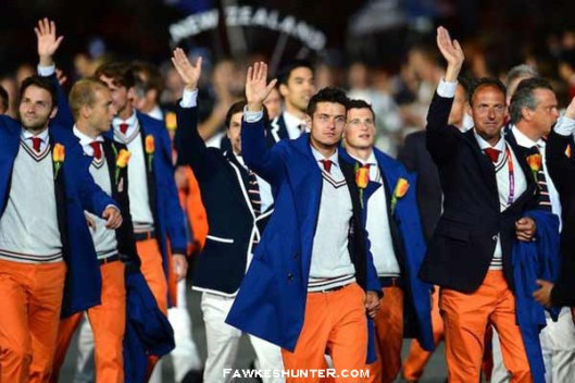 Netherlands at the Opening Ceremony