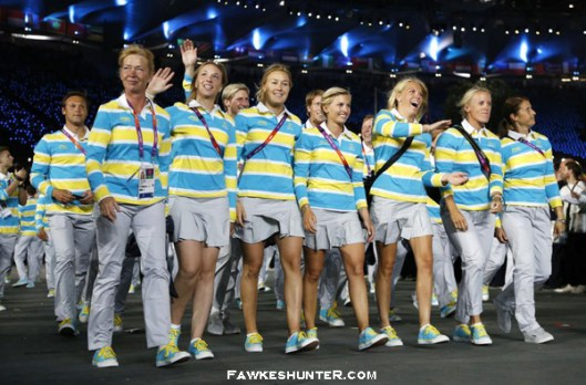 Sweden at the Opening Ceremony