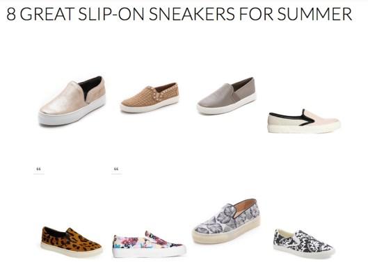 8 Great Summer Slip-on Sneakers