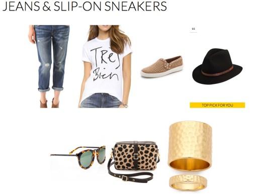 Jeans & Slip-on Sneakers