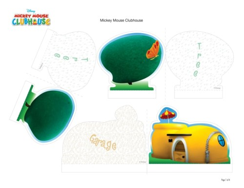 Mickey Mouse Club House Play Set folha1