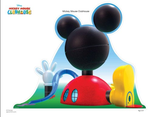 Mickey Mouse Club House Play Set folha 3