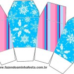 Caixa China in Box Flocos de Neve Azul Tiffany e Rosa: