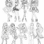 Imagem Personagens Ever After High colorir