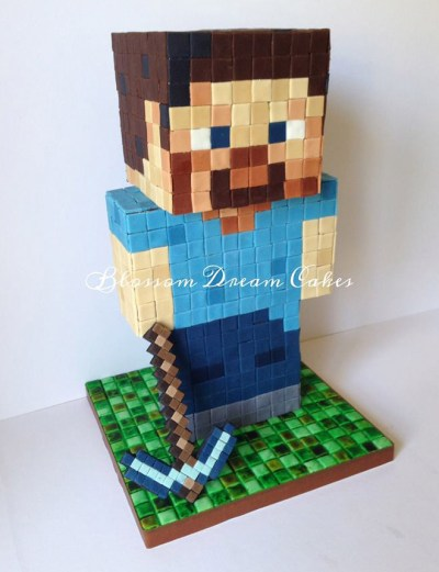 Bolo Minecraft via Blossom Dream Cakes