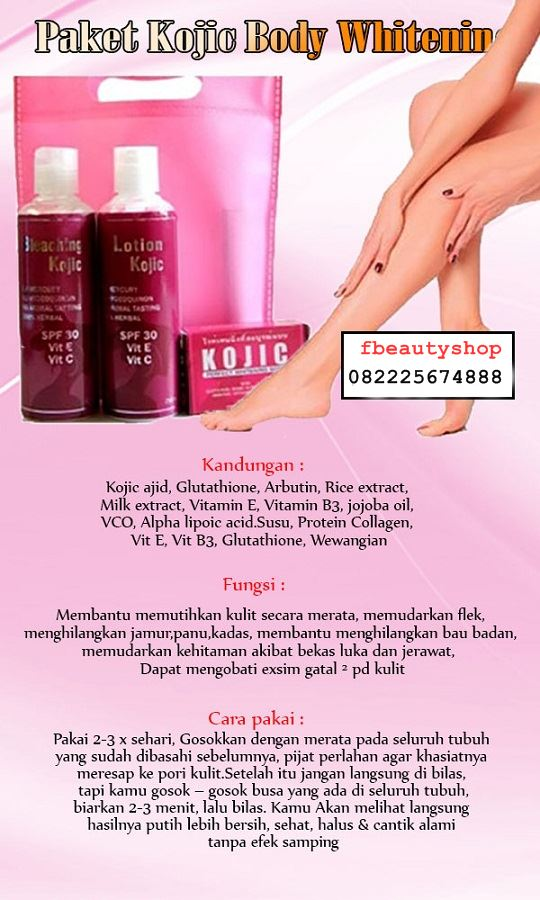 Paket Kojic Body Whitening