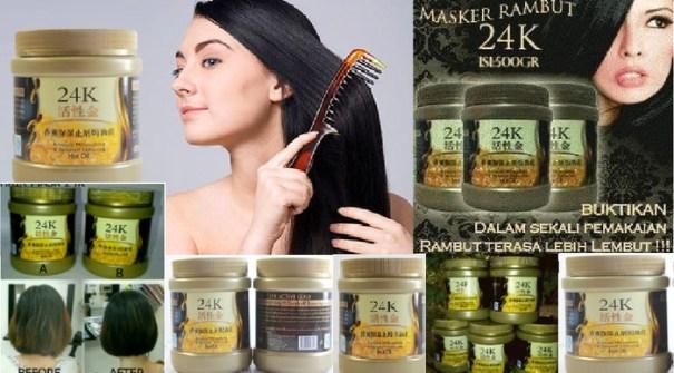 Masker Rambut 24k untuk rambut yang semakin hitam berkilau halus lebat ndan sehat