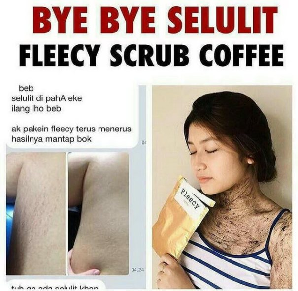 testimoni Fleecy Coffee Scrub