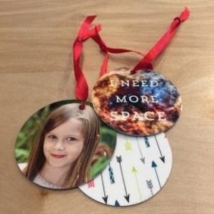 Custom printed ornaments