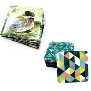 coasters, tiles, gifts, ornaments