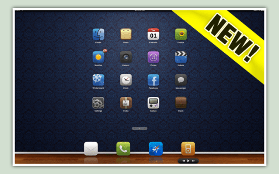 win7 ios suave by kimba d39ab14 Apple Inspired Rainmeter Skins & Themes