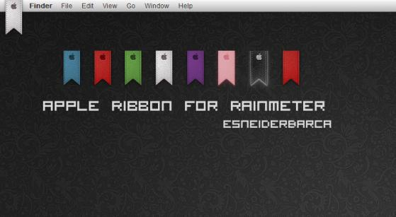 apple ribbon for rainmeter by esneiderbarca d3kvf0i Apple Inspired Rainmeter Skins & Themes