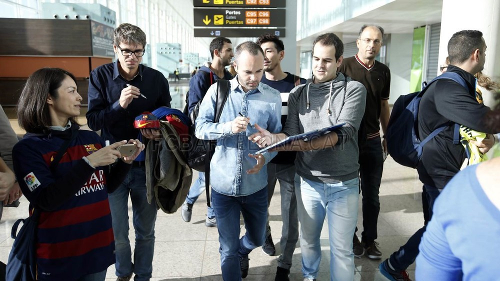 FC Barcelona squad arrive in Madrid and ready to face Getafe