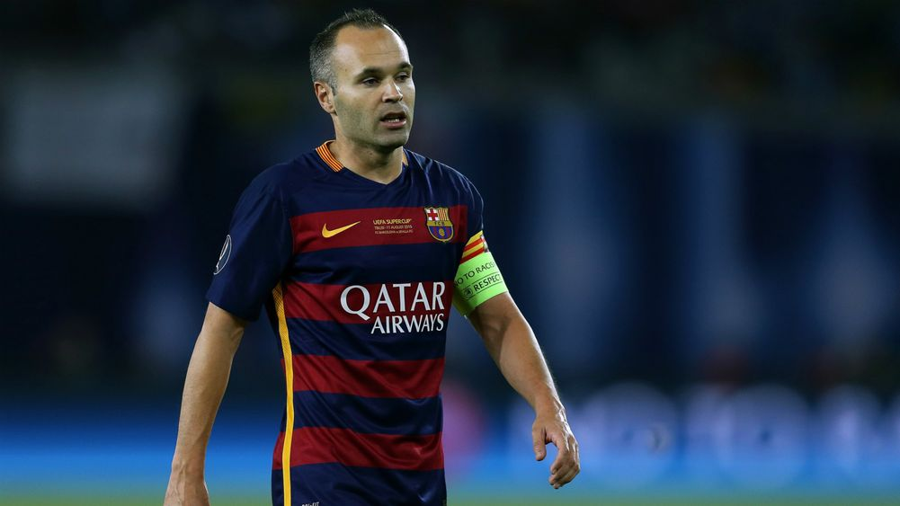 Iniesta back to the training after his recovery