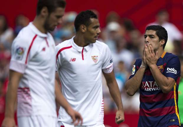 Sevilla 2-1 Barcelona: Champions suffer in Messi's absence