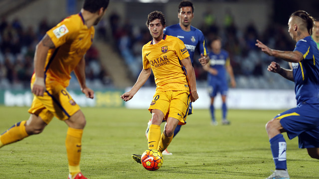 Sergi Roberto assisted both goals on Saturday night against Getafe.