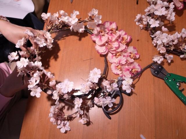 BUD4月レッスン桜リース3