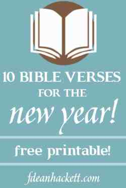 Small Of New Year Bible Verses