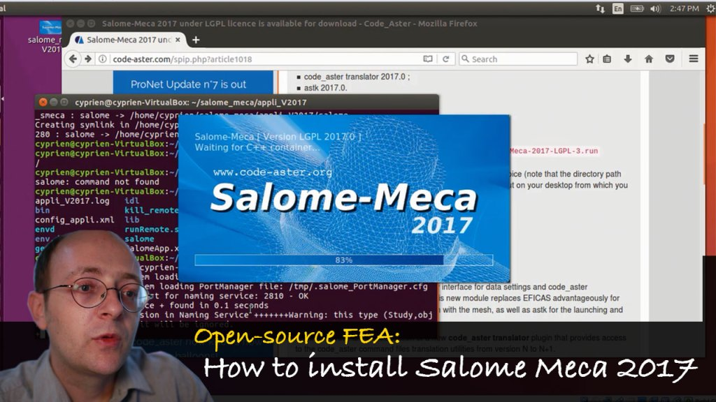 Open-source FEA: How to Install Salome Meca 2017