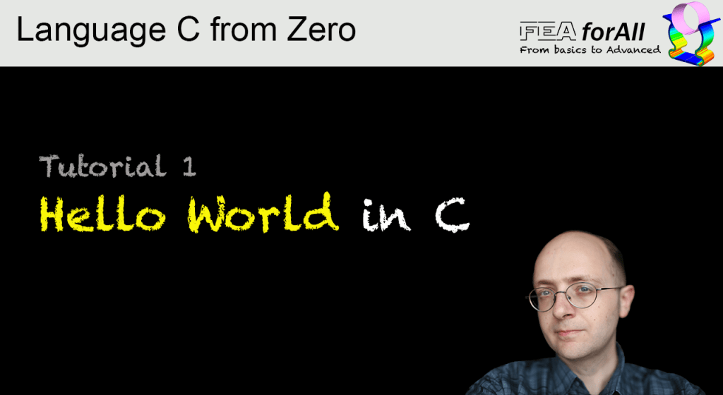 Tutorial 1 – Hello World in C