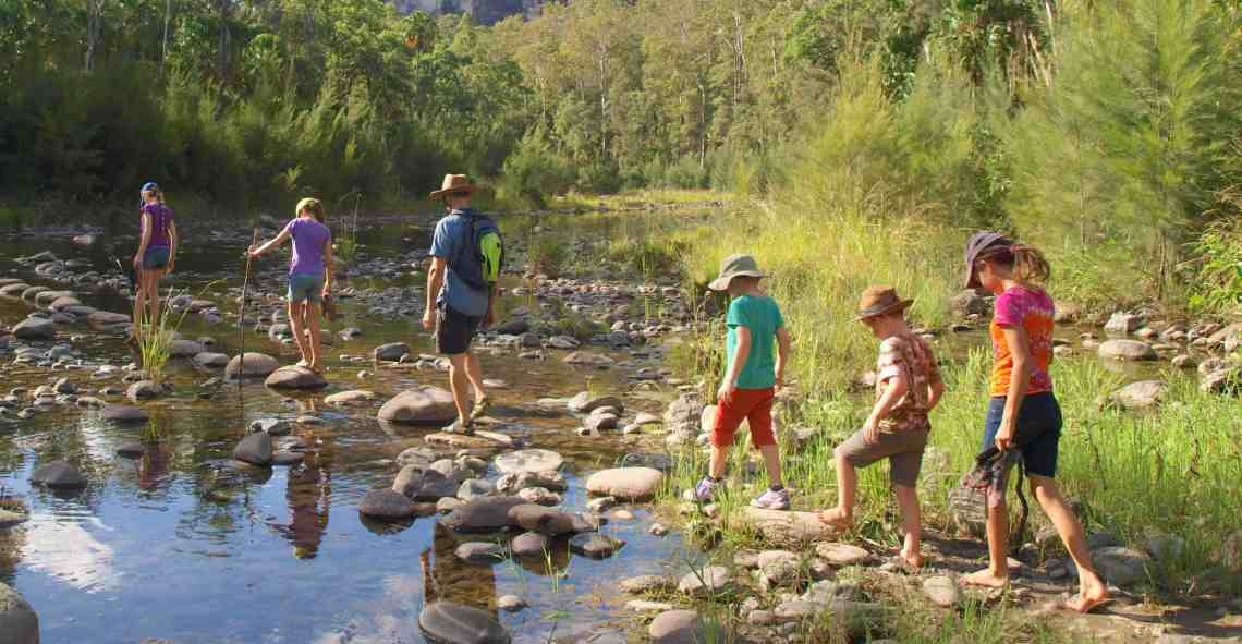 My beautiful family in our favourite setting-trekking in Carnarvon Gorge.