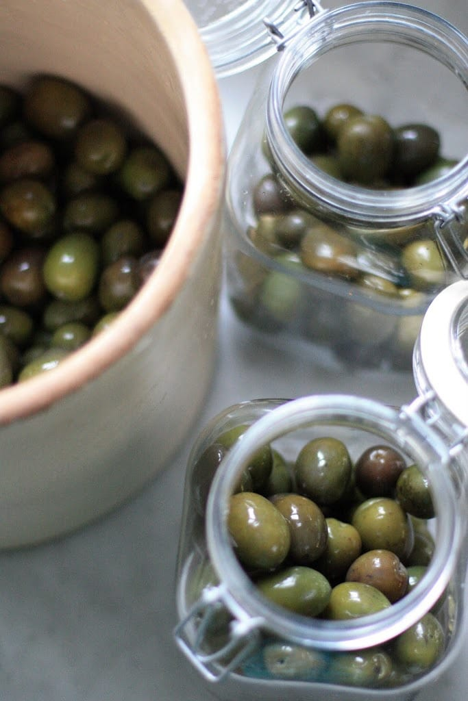 How to Cure Olives with Lye - a step by step guide, that turns bitter olives into buttery delicious bites the whole family will enjoy.