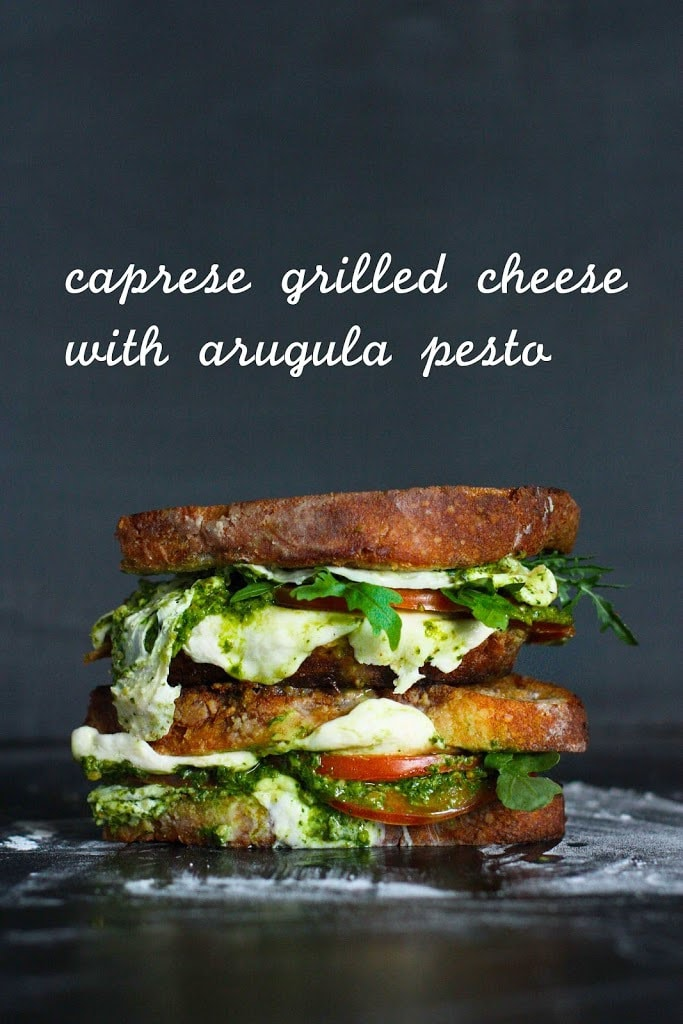 Grilled Caprese Sandwich with Arugula Pesto | Feasting At Home