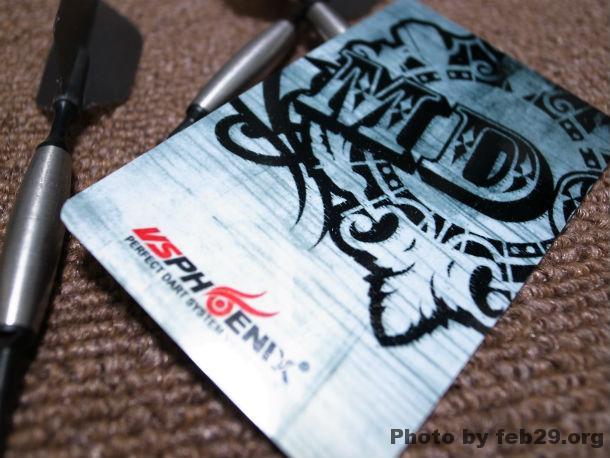 自作のダーツカード