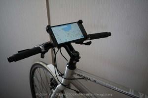 自転車に大画面ナビが!