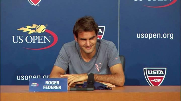 Federer - Prensa US Open '13