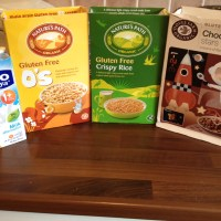 Gluten free, dairy free breakfasts. Option 8 - cereals