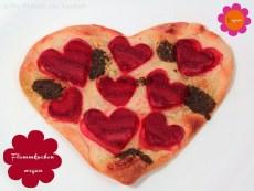 Flammkuchen vegan von Freude am Kochen - Blogg den Suchbegriff - Essen in Herzform
