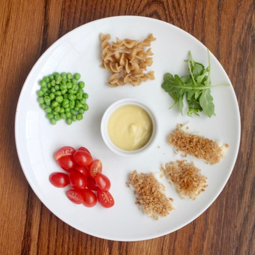 deconstructed meal for picky eaters panko crusted fish