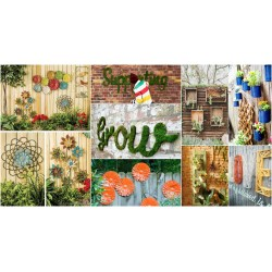 Small Crop Of Backyard Fence Decoration Ideas