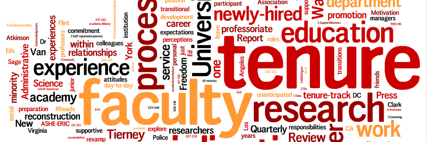 academia - tenure, research, faculty