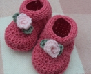 Rosebud Baby Shoes - Pattern PDF