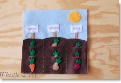 Felt Vegetable Garden Quiet book