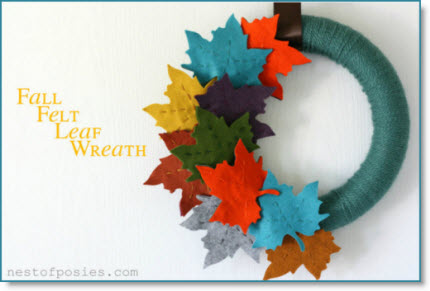 Fall Felt Leaf Wreath
