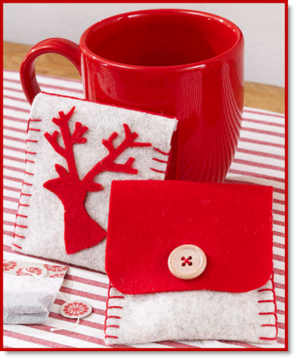 Cozy Christmas Tea Holder DIY – Felting