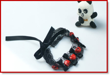 Skull Bracelet from Black Lace