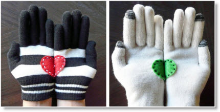 heart in hands gloves