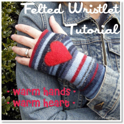 Felted Wristlet Tutorial