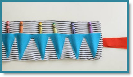 Bunting Crayon Roll