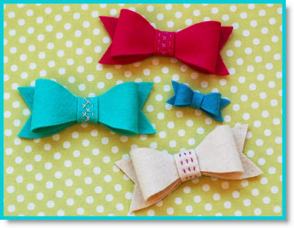 easter hair bows