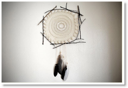 Doily Dreamcatcher Tutorial